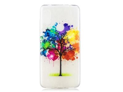 Силиконов гръб за Xiaomi Redmi Note 6 Pro , Цветно Дърво