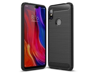 Силиконов гръб Carbon за Xiaomi Redmi Note 6 Pro, Черен