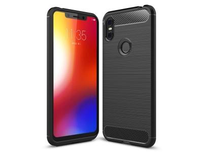 Силиконов гръб Carbon за Motorola One / P30 Play, Черен
