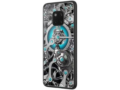 Стъклен гръб със силиконова лайстна NILLKIN Spacetime за Huawei Mate 20 Pro, Син
