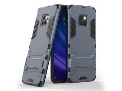 Удароустойчив гръб с Поставка за Huawei Mate 20 Pro, Тъмно син