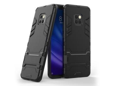 Удароустойчив гръб с Поставка за Huawei Mate 20 Pro , Черен