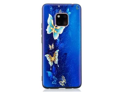 Силиконов гръб за Huawei Mate 20 Pro , Пеперуда