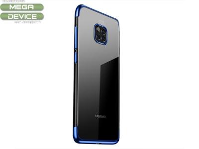 Силиконов гръб CAFELE + Full протектор за Huawei Mate 20 Pro, Син