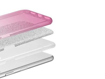 Силиконов Гръб BLING за Huawei P20 Lite, Розов