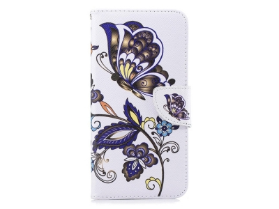 Калъф Тефтер за Samsung Galaxy J6 Plus / J6 Prime, Пеперуди и Цветя