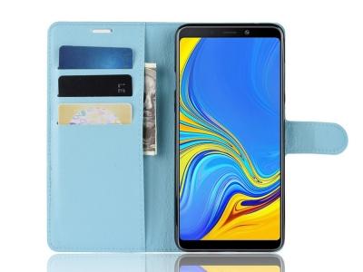 Калъф тефтер Litchi за Samsung Galaxy A9 2018 / A9 Star Pro / A9s, Син