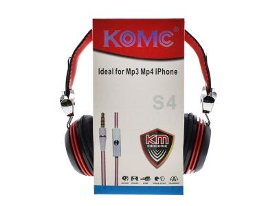 Слушалки с микрофон 3.5mm KOMC S4