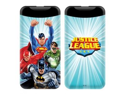 Power Bank 6000mAh 2.1A Justice League - Blue