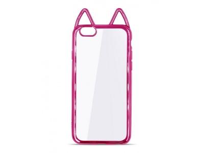 Силиконов Гръб с Ушички - iPhone 5/5S/SE - Pink