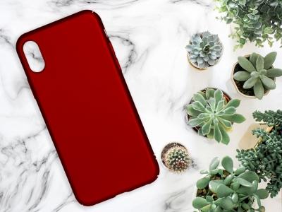Пластмасов гръб за iPhone X / iPhone XS , Червен