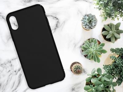 Пластмасов гръб за iPhone X / iPhone XS, Черен