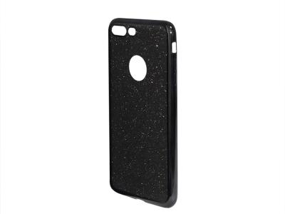 Силиконов Гръб с Брокат iPhone 7 Plus / 8 Plus, Черен