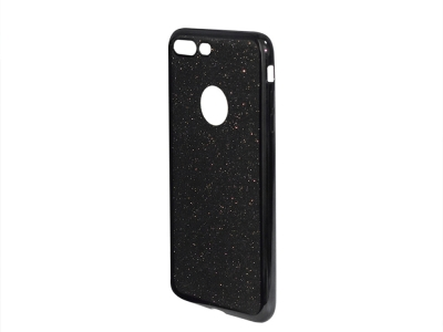 Силиконов Гръб с Брокат iPhone 7 Plus / 8 Plus - Elektro Grey