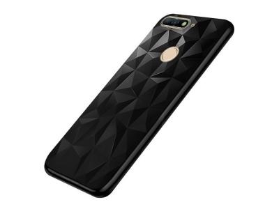 Силиконов гръб PRISM за Huawei Y6 2018 / Y6 Prime 2018, Черен