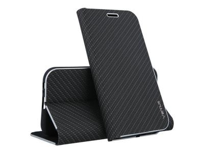 Калъф Тефтер Vennus Book Carbon за Huawei Mate 20 , Черен