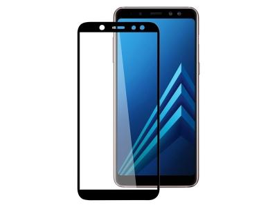 Стъклен Протектор 5D Full Glue за Samsung Galaxy A6 Plus 2018 A605, Черен