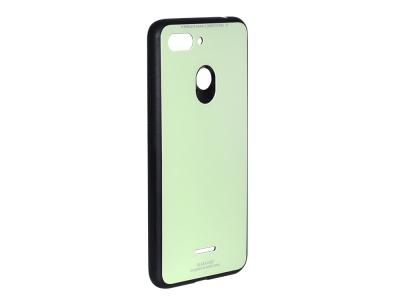 Стъклен гръб със силиконова лайстна Glass за Xiaomi Redmi 6, Зелен