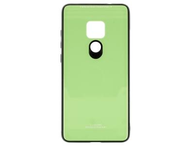 Стъклен гръб със силиконова лайстна Glass за Huawei Mate 20, Зелен