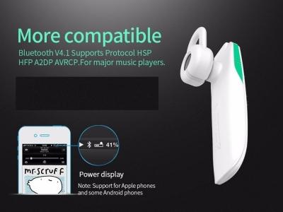 Bluetooth слушалка HF HOCO E1 White