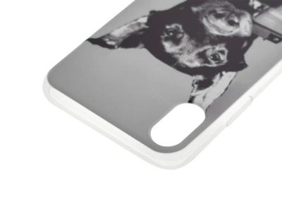 Силиконов гръб за iPhone X / iPhone XS, Доберман