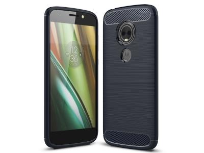 Силиконов гръб Carbon за Motorola Moto E5 Play (US Version), Тъмно син