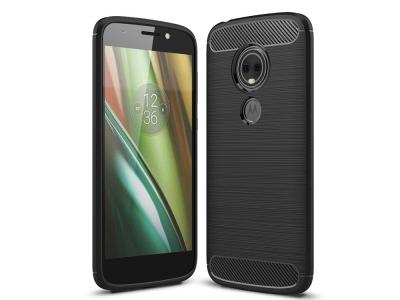 Силиконов гръб Carbon за Motorola Moto E5 Play (US Version) , Черен