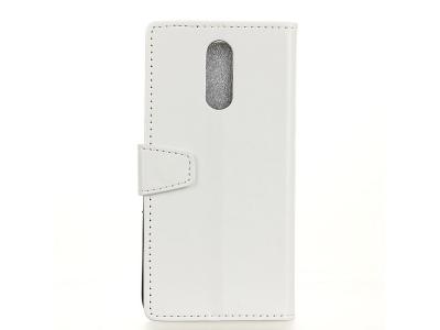 Калъф тефтер Litchi за Nokia 3.1 Plus , Бял