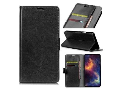 Калъф тефтер Litchi за Nokia 3.1 Plus, Черен