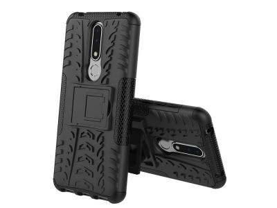 Удароустойчив Калъф гръб с поставка Hybrid за Nokia 3.1 Plus , Черен