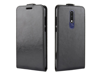 Калъф Тефтер Вертикал за Nokia 3.1 Plus , Черен