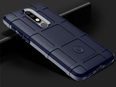 Удароустойчив гръб Grid за Nokia 3.1 Plus, Тъмно син