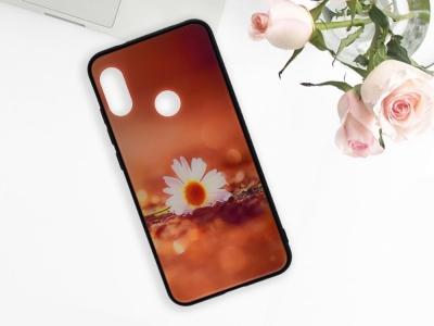 Калъф Гръб Glass за Xiaomi Mi A2 Lite / Readmi 6 Pro, Маргаритка