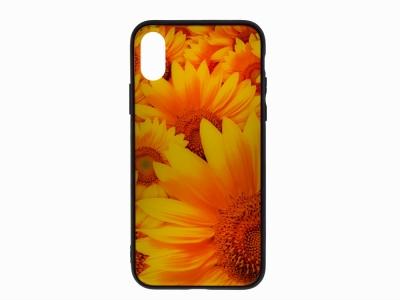 Калъф Гръб Glass за iPhone X / XS , Слънчоглед
