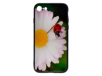Силиконов Гръб Glass за iPhone 7 / iPhone 8 (4.7), Калинка