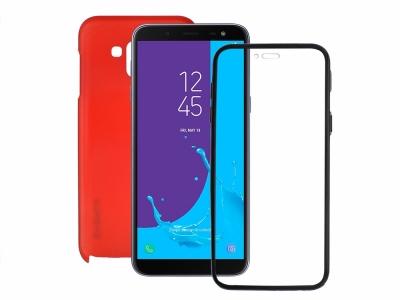360 Градуса Калъф за Samsung Galaxy J6 2018 J600 , Червен