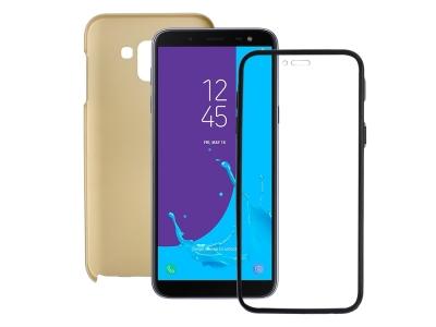 360 Градуса Калъф за Samsung Galaxy J6 2018 J600 , Златист