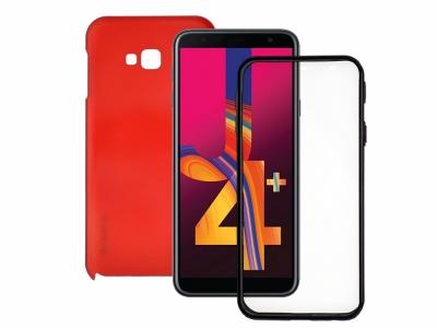 360 Градуса Калъф за Samsung Galaxy J4 Plus , Червен