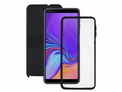 360 Градуса Калъф за Samsung Galaxy A7 2018 A750, Черен