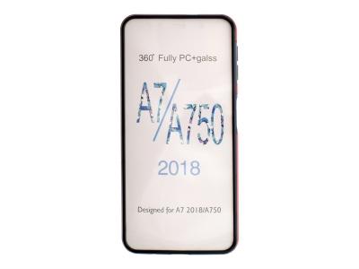 360 Градуса Калъф за Samsung Galaxy A7 2018 A750, Червен