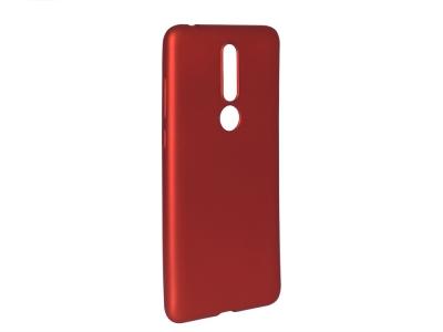 Силиконов Гръб Level за Nokia 3.1 Plus, Червен
