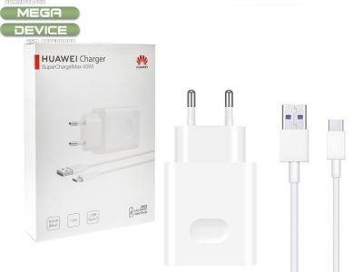 Оригинално зарядно Huawei HW-100400E00 Super Charge + TYPE C CP84