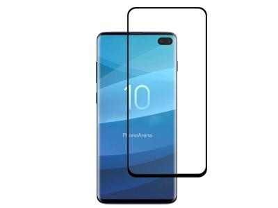 Стъклен Протектор 5D Full Nano за Samsung Galaxy S10 Plus, Черен