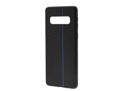 Удароустойчив гръб Moto Carbon за Samsung Galaxy S10 (G973), Черен / Син