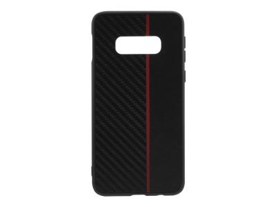 Удароустойчив гръб Moto Carbon за Samsung Galaxy S10e (G970), Черен / Червен
