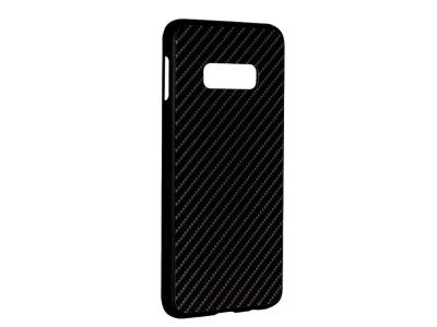 Стъклен гръб със силиконова лайстна Glass за Samsung Galaxy S10e (G970), Черен