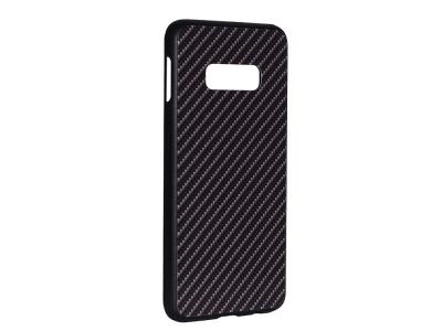Стъклен гръб със силиконова лайстна Glass за Samsung Galaxy S10e (G970) , Тъмно сив