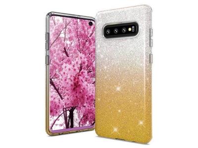 Силиконов Гръб BLING за Samsung Galaxy S10 (G973), Златист