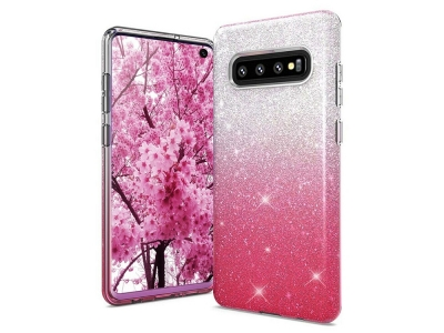 Силиконов Гръб BLING за Samsung Galaxy S10 (G973), Розов