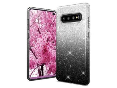 Силиконов Гръб BLING за Samsung Galaxy S10 (G973), Черен